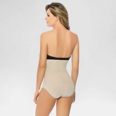 eef9bb1126 Annette Women s Faja Extra Firm Control High Waisted Mid-Thigh Shaper with  Invisible Zipper - Beige XL