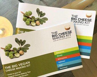 Vegan Present Etsy Uk Vegan Gifts Vegan Cheese Making Kit