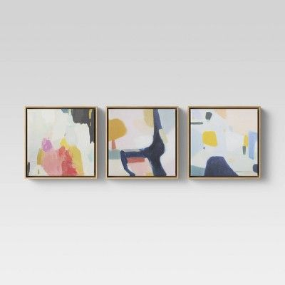 """(Set of 3) 12"""" x 12"""" Framed Canvas - Project 62"""