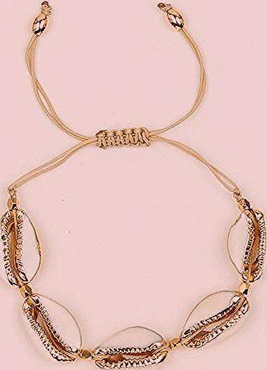 مجموعة شل قلادة سوار 3 تصميم مختلف لون الذهب قلادة مجموعة مجوهرات Gold Necklace Gold Necklace