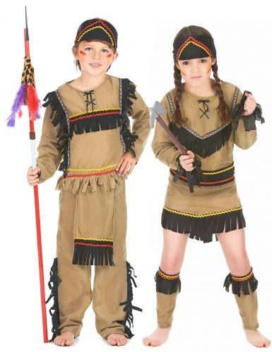 INDIAN GIRL COSTUME Apache Nativo Americano BAMBINO Bambina Deluxe