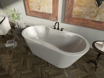 59 X 32 X 23 Oval Freestanding Tub Center Drain