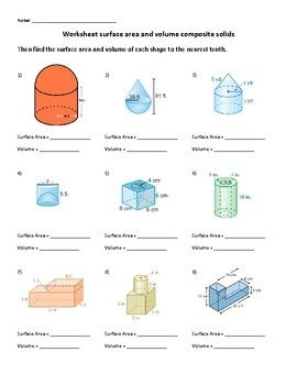Qualified surface area and volume worksheets pdf ideas