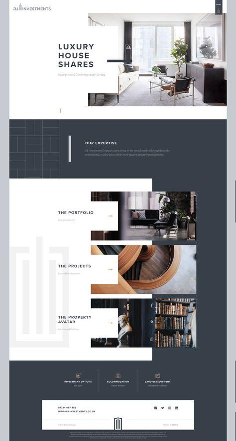 Web design layout inspiration
