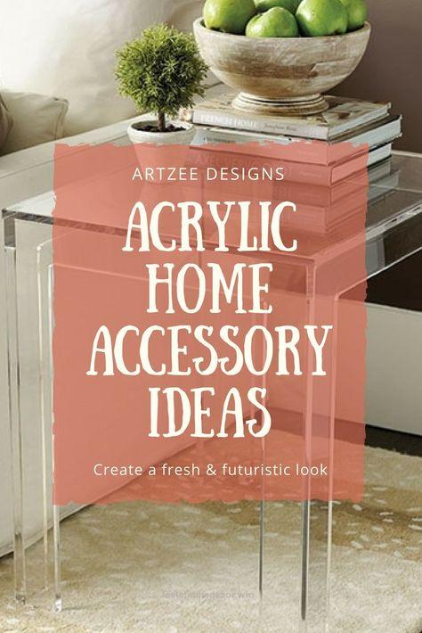 Acrylic Home Accessories Contemporary Home Decor Home