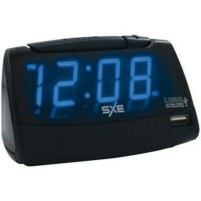 Ebay Link Sxe Sxe86034 Blue 1 Led Display Alarm Clock W Usb