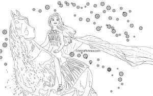 Elsa On Water Horse Coloring Pages Horse Coloring Pages Mermaid Coloring Pages Horse Coloring