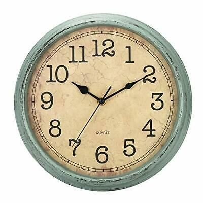 Hylanda 12 Inch Vintage Retro Wall Clock Silent Non Ticking Quartz Blue Green Fashion Home Garden Homedcor Clocks Ebay In 2020 Clock Wall Decor Wall Clock Silent