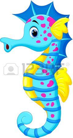 Seahorse Clipart Seahorse Cartoon Cartoon Sea Animals Seahorse Art