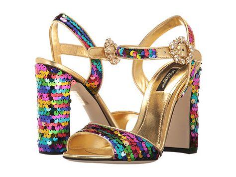 abbc705e600a Dolce   Gabbana Sequin 105mm Sandals