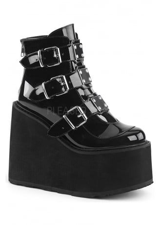 a0b36d5699b68 Demonia Concord 57 Gothic Patent Ankle Boot in 2019 | Clothes ...