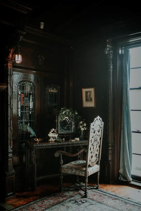 DIY Wedding Ideas, Wedding Vendors, Wedding Venues, Recycle Your Wedding, Shop Wedding Supplies Draco Malfoy Aesthetic, Slytherin Aesthetic, Harry Potter Aesthetic, Gothic House, Victorian Gothic, Victorian Library, Gothic Mansion, Victorian Rooms, Victorian Interiors