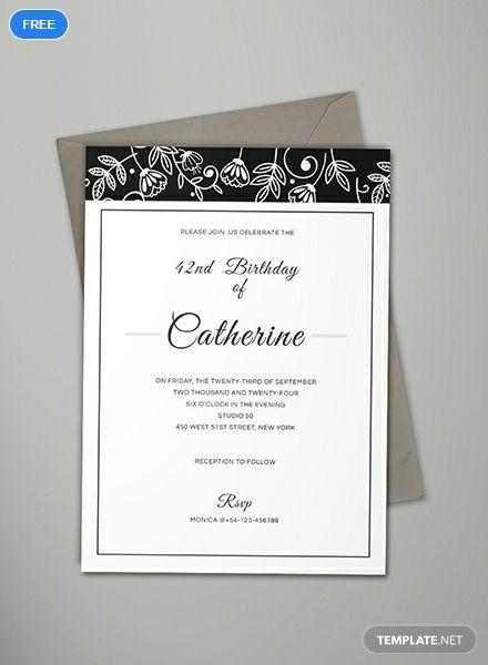 formal event invitation template free