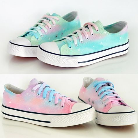 Galaxy shoes, Kawaii shoes, Canvas shoes