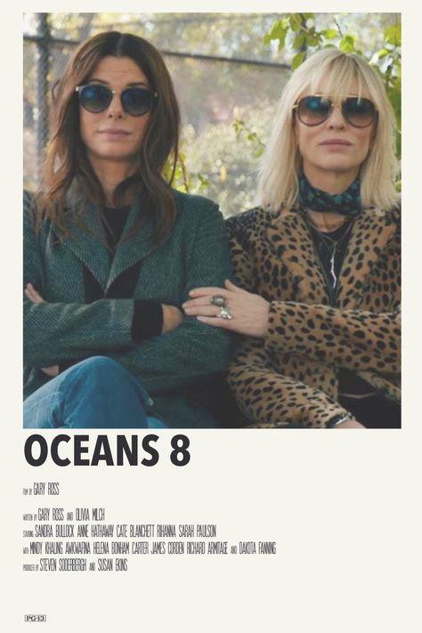 alternative minimalist movie polaroid poster: oceans 8 by priya