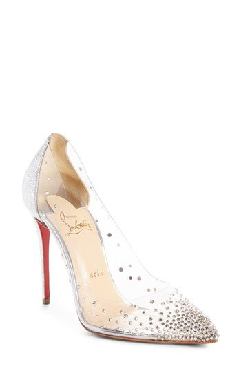 efd39980ab2 CHRISTIAN LOUBOUTIN DEGRASTRASS CLEAR EMBELLISHED PUMP ...