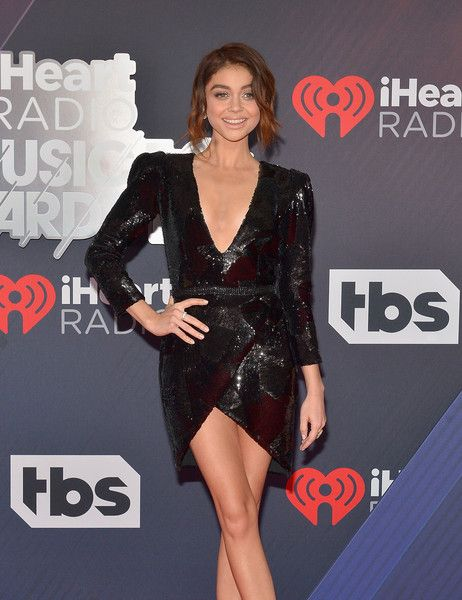 Sarah Hyland arrives at the 2018 iHeartRadio Music Awards which broadcasted live on TBS, TNT, and truTV at The Forum.