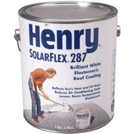Henry HE287SF046 1 Gallon SolarFlex Elastomeric White Roof Coating, As  Shown | Products | Pinterest | Roof Coating