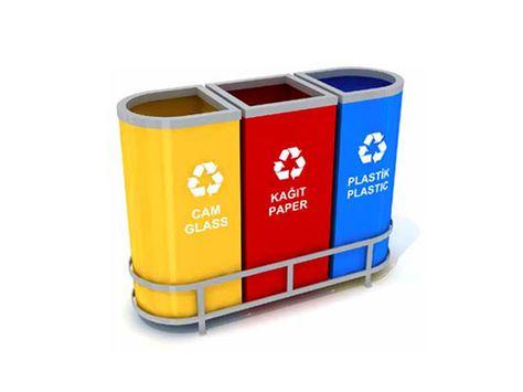 Wertstoffsammler Müll- Abfalltrennsystem aus Verzinktes Stahlteilen Mak 621 B