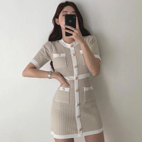 Women's creamy white Bodycon Dress - One size 8-12