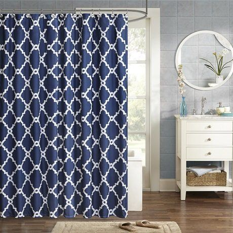 Madison Park Essentials Merritt Printed Shower Curtain Na Https
