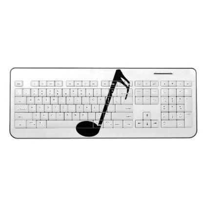 Sixteenth Of A Whole Musical Note Isolated Wireless Keyboard Drawing Sketch Design Graphic Draw Personalize Personalized Music Music Gifts Personalised