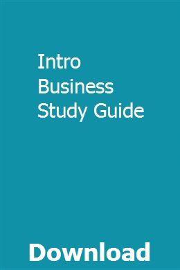 Intro Business Study Guide | acrarife | Exam guide, Civil