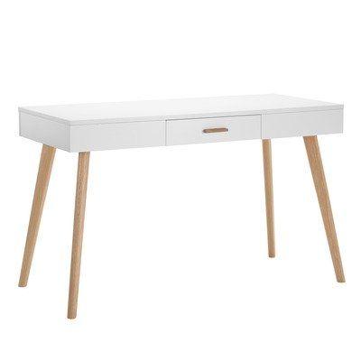 Milan Direct Vasby Desk Console 1 Drawer Scandinavian Reviews Temple Webster Scandinavian Desk Desk Office Furniture Desk