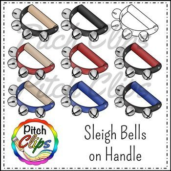Look At This Sleigh Bells And Jingle Bells Clipart I Love The Variety In This Set I Love All Her Music And Instrument Clip Clip Art Sleigh Bell Cool Clipart