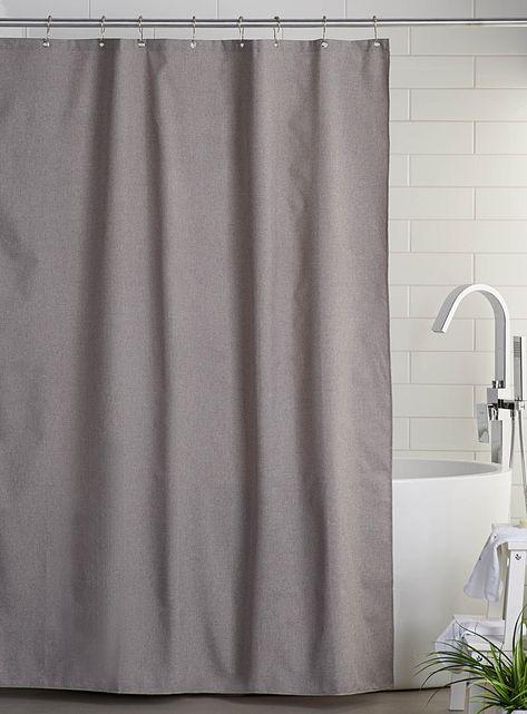 Heather Colour Shower Curtain Fabric Shower Curtains Curtains