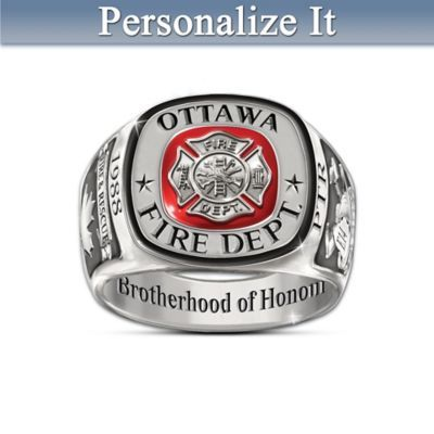 Brotherhood Of Honour Customized Firefighters Tribute Ring Firefighter Ring Firefighter Firefighter Gifts
