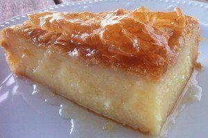 البف باستري بالكاسترد وصفة لكي Recipe Galaktoboureko Recipe Greek Desserts Greek Recipes