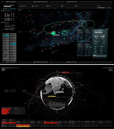 Spy out these on-set UI screen graphics that Rushes created for over 300 screens in SPECTRE