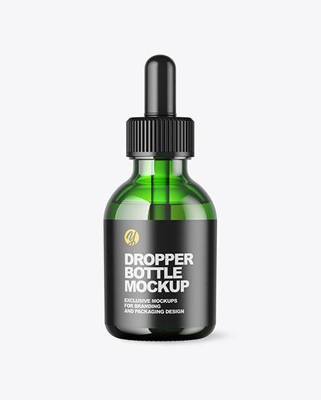 Green Dropper Bottle Mockup In Bottle Mockups On Yellow Images Object Mockups Bottle Mockup Dropper Bottles Cosmetics Mockup