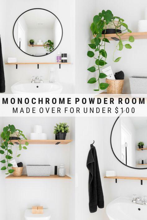 Tiny Powder Room Decorating Ideas Modern Half Bath Updates For 100 Badezimmer Dekor Badezimmer Diy Modernes Badezimmer