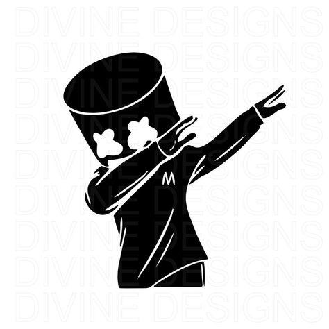 Dabbing Marshmellow SVG | Etsy
