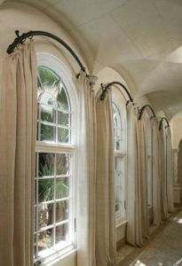 Arch Window Curtain Rod Lowes Arched Window Treatments Curtains