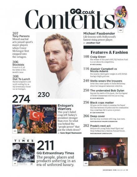 Image result for magazine contents page