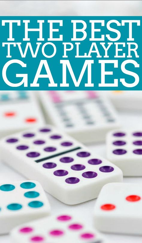 The Best 2 Player Games for Couples - Make your next at home date a game night date with one of the best couples board games or card games on this list! Competitive and cooperative 2 player games included. Online Games For Couples, Board Games For Couples, Games For Teens, Couple Games, Date Night Games, Couples Game Night, Family Card Games, Fun Card Games, Party Games