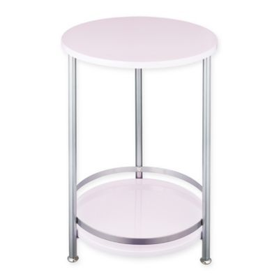 2 Tier Round Side Table In Orchid Silver Side Table Marble Side Tables Round Side Table