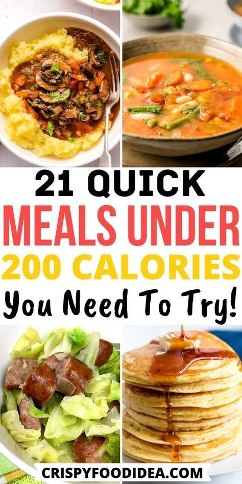 Easy Low Calorie Dinners, Meals Under 200 Calories, 800 Calorie Meal Plan, Healthy Low Calorie Meals, No Calorie Foods, Breakfast Under 200 Calories, 200 Calorie Breakfast, 300 Calories, Healthy Weight