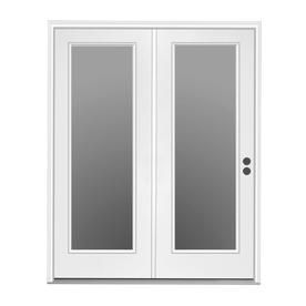 Jeld Wen 71 5 In X 79 5 In Clear Glass Left Hand Inswing Off White