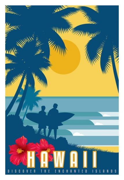 House Beach Hawaii 29 Ideas House Surf Poster Vintage Hawaii Travel Posters
