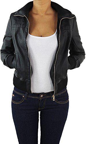 Genieße den reduzierten Preis Einkaufen retro Damen Lederjacke Kunstlederjacke Leder Jacke Damenjacke ...