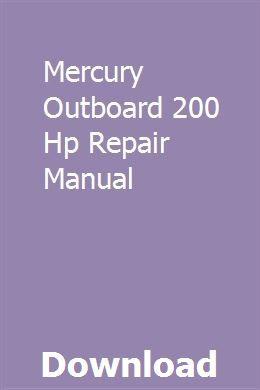 Mercury Outboard 200 Hp Repair Manual Subaru Impreza Repair Manuals Impreza