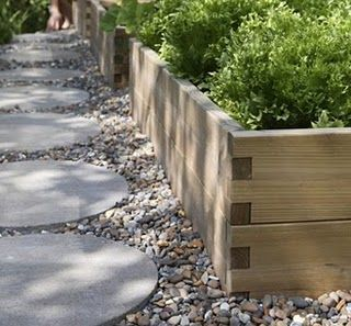 Raised Flower Bed Gravel Stepping