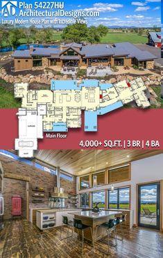 Plan 54227hu Luxury Modern House Plan With Incredible Views Modern Farmhouse Plans House Plans With Pictures Luxury Modern Homes