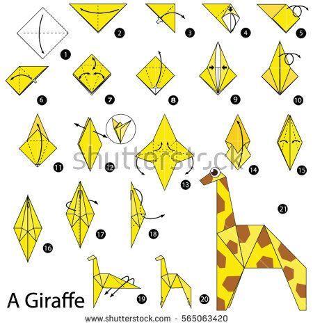 Origami Giraffe Anleitung