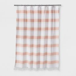 Colorblock Woven Shower Curtain Light Gold Project 62 Striped
