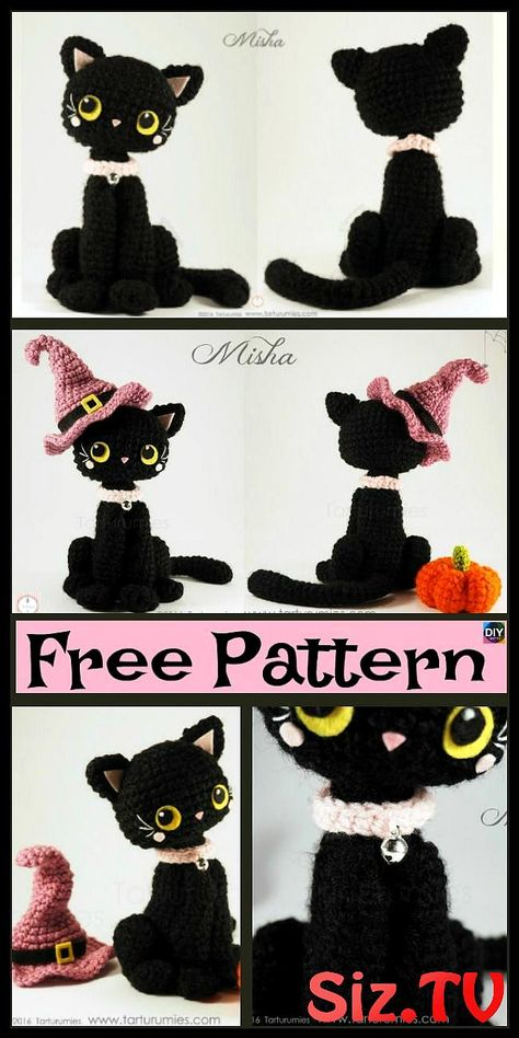 Amigurumi Black Cat Free Pattern | Crochet amigurumi free patterns ... | 948x474
